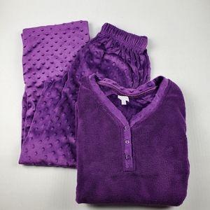 Great Northwest Plush Purple Fleece PJ Set Size S